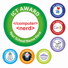 An image of ICT Award Stickers - Geek - Large Pack