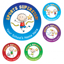 Sports Superstar Stickers