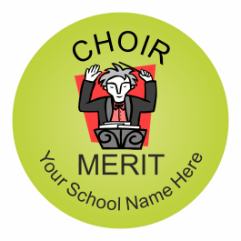 Choir Reward Stickers - Classic