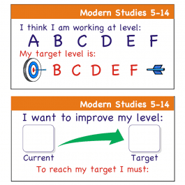 Modern Studies 5-14 Pupil Assessment Stickers