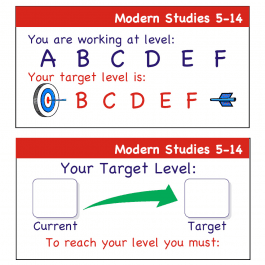 Modern Studies 5-14 Teacher Assessment Stickers