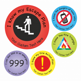 Fire Safety Stickers Set 1