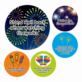 Bonfire Night Firework Safety Stickers