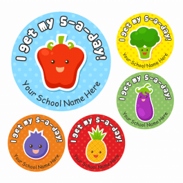 5-A-Day Lunchtime Award Stickers