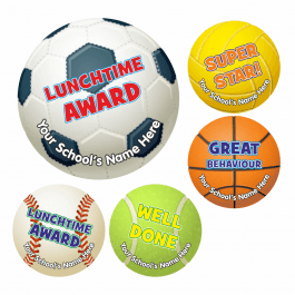 An image of Lunchtime Sports Ball Stickers - Small Pack