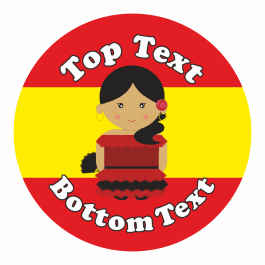 Spanish Customisable Stickers