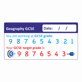 Geography GCSE 1-9 Marking Stickers