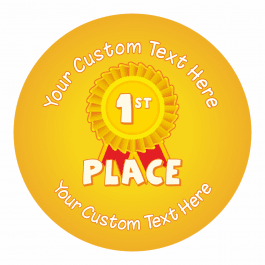 1st Place Sports Day Ribbon Stickers