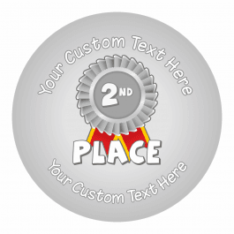 2nd Place Sports Day Ribbon Stickers