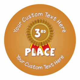 An image of 3rd Place Sports Day Ribbon Stickers - Small Pack