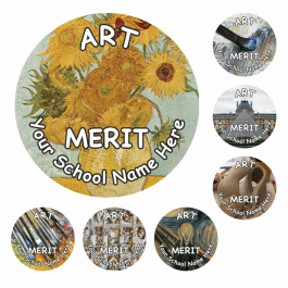 Art Snapshot Reward Stickers