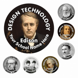 Great Inventors Reward Stickers