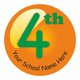 An image of 4th Place Sports Day Stickers - Small Pack