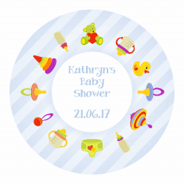 Baby shower Stickers - Blue