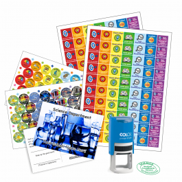 Science Teacher Bundle Pack - Stickers, Postcards, Stampers