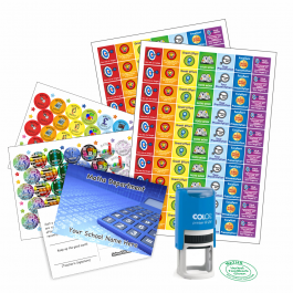 Maths Teacher Bundle Pack - Stickers, Postcards, Stampers
