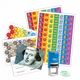 English Teacher Bundle Pack - Stickers, Postcards, Stampers