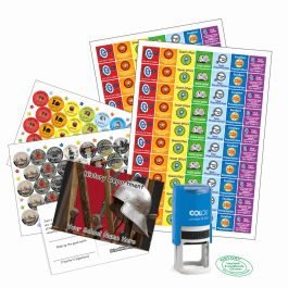 History Teacher Bundle Pack - Stickers, Postcards, Stampers