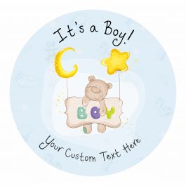 It's a Boy! Announcement Stickers - Stars Design