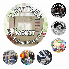Textiles Snapshot Reward Stickers