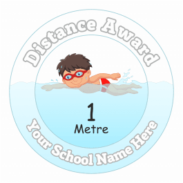 Swimming Distance Award - 1 Metre - Boys