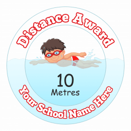 Swimming Distance Award - 10 Metres - Boys