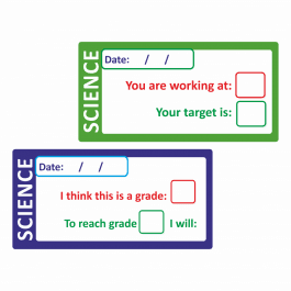 Science Self / Peer Assessed Grade Stickers