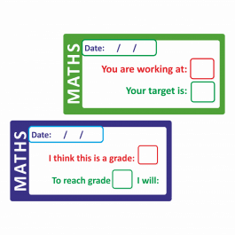 Maths Self / Peer Assessed Grade Stickers