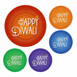 Happy Diwali Festival of Light Stickers