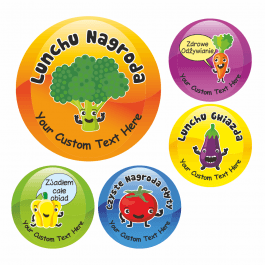 35mm Polish Language Lunchtime Award Stickers