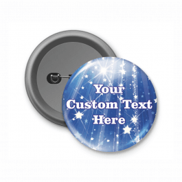 Blue Star Design - Customised Button Badge