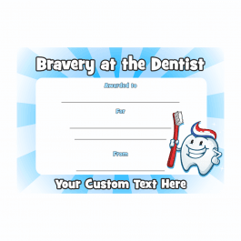 I was Brave at the Dentist Certificate