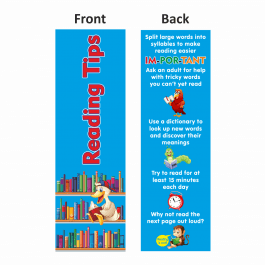 Reading Tips Bookmarks Set 1