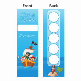 Pirate Ship Sticker Collection Bookmarks