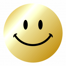 Gold Smiley Faces Reward Sticker Pack-Metallic