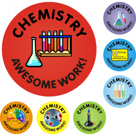 An image of Chemistry Awesome Work Reward Stickers