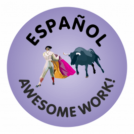 Spanish Awesome Work Stickers