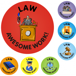 Awesome Work Reward Stickers - Law