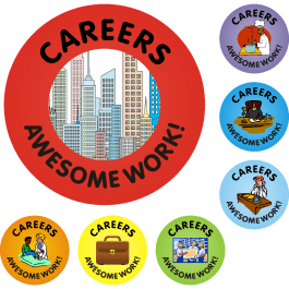 Awesome Work Reward Stickers - Careers