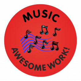 Music Awesome Work Stickers