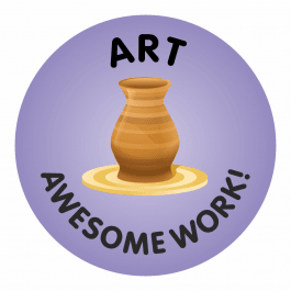 Awesome Work Reward Stickers - Art