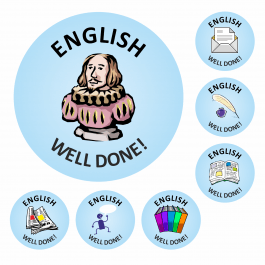 An image of 140 English Well Done Stickers