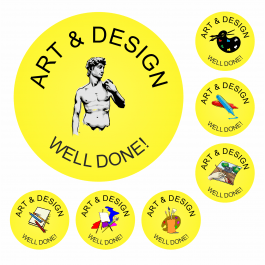 An image of 140 Art Well Done Stickers