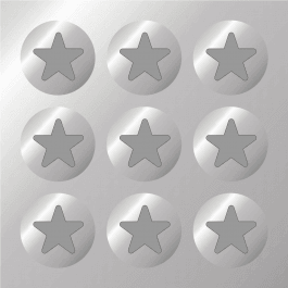 Silver Stars -Easy Peel Silver Paper