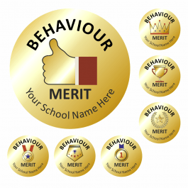 Metallic Gold Behaviour Reward Stickers
