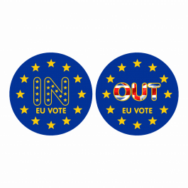EU Vote stickers - In or Out