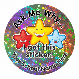 Ask Me Why Sparkly Stickers
