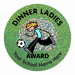 Dinner Ladies Award Sparkly Stickers