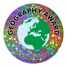 Geography Award Sparkly Stickers