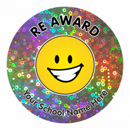 RE Award Sparkly Stickers